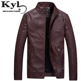 Wholesale Leather Fur Coats For Men - Wholesale- 2016 Black Leather Jackets For Men Winter Fur Slim Fit Pu Jacket Chaquetas De Cuero Male Fashion Motorcycle Coat 602