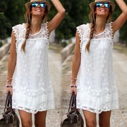 Vestido boho blanco corto