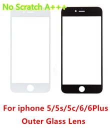 Wholesale Iphone 5c Glass Lens - For iphone6 AAA NO Scratch Touch Screen Front Outer Glass Lens Replacement for iphone 6 6Plus 6s plus 5g 5s 5c glass lens