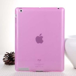 Wholesale Jelly Case Ipad - Hot Sale Fashion Jelly Color Transparent Silicon Back Cover for iPad 2 iPad 3 iPad 4 Comfortable Soft Gel Case for iPad 2 3 4
