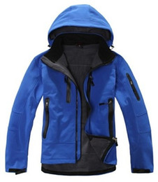 Wholesale Mens Ski Jacket Waterproof - Mens Soft Shell Jacket Thick Fleece Lining Winter Mammuts Coat Waterproof Ski Snowboard Jacket