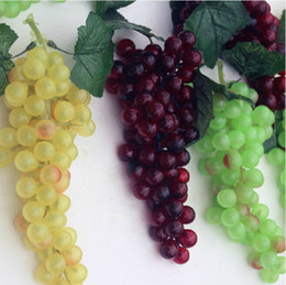 Wholesale Garden Shoots - Home Decor Ornament Extra Long Simulation Grapes String Craft Shooting Prop For Garden Wedding Party Decoration