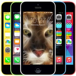 Wholesale 5c Unlock - Original Apple iPhone 5C Unlocked I5C IOS8 Dual Core Mobile Telefone 8GB 16GB 32GB ROM 8MP Camera WCDMA 3G Cell Phone A+ Grade