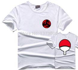 Wholesale Family Tees - Sasuke T-Shirt Men Tee Anime Naruto Uchiha Family Logo Sharingan Eye Symbol Cosplay T Shirts Akatsuki Itachi Tshirt