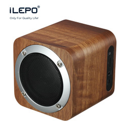 New Arrival iLEPO i7 Wooden HiFi Bluetooth Speaker Subwoofer Wireless Mini Speakers Portable Stereo Music Box VS Charge 3 Xtreme Coupon