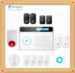 Wholesale Diy Gsm Pstn Alarm - New Wireless GSM+PSTN Alarm System 433Mhz Home Security Protection Compatible Chuango G5 DIY eTIGER S4 Set