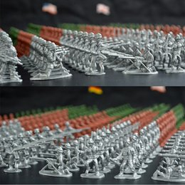 Wholesale Plastic Army Toys - 100pcs set Military Plastic Toy Soldiers Army Men Figures 12 Poses Gift Toy Model Action Figure Toys For Children Boys