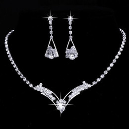 White Crystal Bridesmaid Jewelry Set Canada Best Selling White
