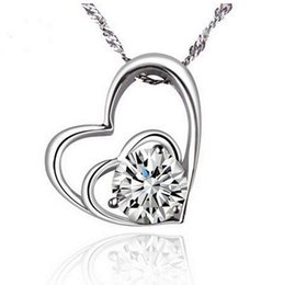 Wholesale Heart Pedant - Classical Style, Necklace with diamond heart pedant, noble and delicate for women, free shipping and high quality