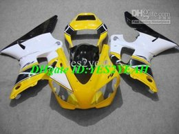 Wholesale 99 R1 Parts - Custom Motorcycle Fairing parts for 1998 1999 YAMAHA YZFR1 YZF R1 YZF-R1 YZR1000 R1 98 99 white yellow blk Fairings set