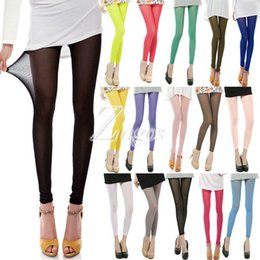 Wholesale Green Lycra Pants - Women's Sexy 15 Candy Colors Mesh Sheer Stretchy Leggings Pants Elastic Summer Pants Wholesale Slim Fit Wholesale BD0095