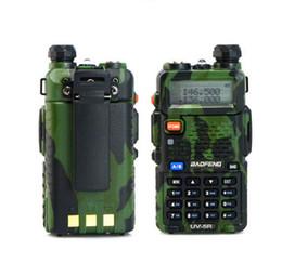 Radio de camouflage en Ligne-Vente en gros-Promotion Camouflage Radio de poche BAOFENG UV-5R Dual Band Talkie Walkie avec livraison gratuite