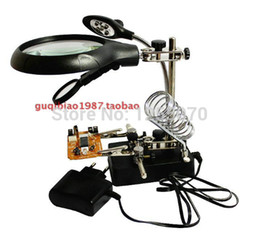 Wholesale Magnifier Pcb - A magnifying glass with lamp magnifying glass desktop magnifier motherboard PCB repair with auxiliary tool a magnifying glass order<$18no tr