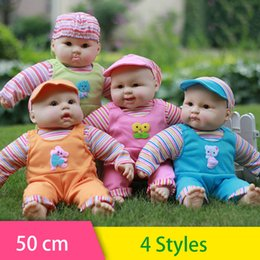 Wholesale Adorable Reborn Baby Girl - Wholesale- 50cm Newest reborn baby dolls Girls reborn baby corpo inteiro de silicone adorable Lifelike toddler baby toys for children gift