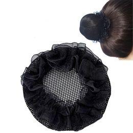 Donne Bun Cover Snood Net Hair Balletto Danza Pattinaggio Mesh Bun Cover per le donne Accessori per capelli crochet da fiore del cappello di prom fornitori