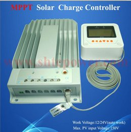 Wholesale 24v Charge Controllers Mppt - New MPPT solar charge controller 12v 24v 40A with computer connection max pv 150v input Tracer 4215BN