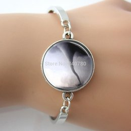 Wholesale Green Wizard - Tornado picture glass dome Bracelet,Twister Storm Chaser,Wizard of Oz Art Picture Jewelry 2016 New Arrive Cuff Bangle For Gift