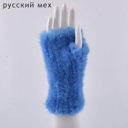 Gants de fourrure d'hiver pour les femmes de véritables gants de fourrure nouvelles femmes 20 cm d'élasticité de la mode véritable gant tricoté de fourrure sans doigts ? partir de fabricateur
