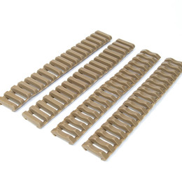 "Wholesale Picatinny Handguard - Tactical 7"" Picatinny Ladder Rail Rubber Covers (pack of 4) Black Tan"