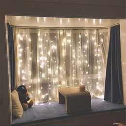 Wholesale christmas lights window decorations - Twinkle Star 300 LED Window Curtain String Light for Wedding Party Home Garden Bedroom Outdoor Indoor Wall Decorations (Warm White)
