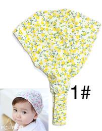 Wholesale Bandana Headband Girl - New Arrival Baby Girl Kid Newborn Flower Headband Hair Wear Accessories Headscarf Bandana Hat 4 Colors free shipping TY1212