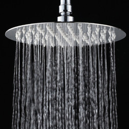 """Wholesale Thin Stainless Shower Head - 10"""" Stainless Steel Shower Head Wall Mounted Ultra thin Rain Shower Heads free shipping CP-10000"""