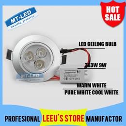 Wholesale Led 5pcs Bathroom - 5pcs 9W LED Ceiling Light AC 85-265V Dimmable LED Downlight Spotlight Fixture Lamp White ,Warm White 800lm