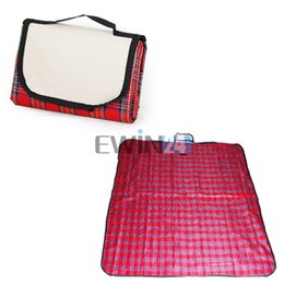 Wholesale Travel Picnic Blanket - Folding FLEECE Blanket Camping Beach Festival Waterproof Backed Picnic Rug Mat Travel Pet Dog Caravan mattress