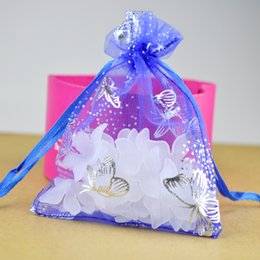 Wholesale Drawstring Jewelry Pouch Purple - Beautiful Gift Organza Bags Multi Colors Drawstring Pouches Wedding Gift Jewelry Bags Christmas Gift Packaging SK616