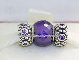 Wholesale Authentic Pandora Murano Glass Beads - Authentic 925 Sterling Silver Charms and Murano Glass Bead Set with Charm Box Fits European Pandora Jewelry Charm Bracelets -Flower