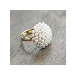 Wholesale Noble Models - PR-056 Fashion Jewelry For Women Noble And Elegant Temperament Models Mushroom Head White Pearl Ring