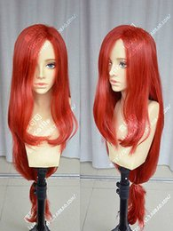 Wholesale Lol Miss - League of Legends LOL Miss Fortune Long Red Cosplay Party Wig Hair
