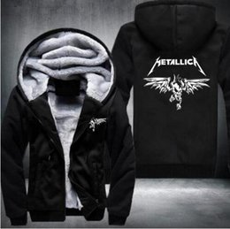 Wholesale Death Note Sweatshirt - 2016 Winter Death Note hoodie Anime Hooded Thick Zipper Men Sweatshirts Jackets and Coats USA EU size Plus size