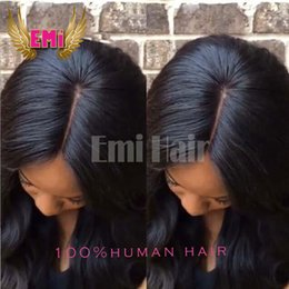 Wholesale Best Human Hair Yaki Wigs - Free Style Silk Base Top Full Lace Lace Front Wig yaki straight Brazilian Malaysian Human Best Hair wig With Baby Hair for black women