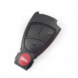 Wholesale mercedes key for smart - Best car key 3+1 button remote key shell for Mercedes Benz smart key blank case with high quality 10pcs lot free shipping