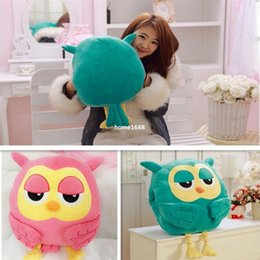 Wholesale Warming Seat Cushion - New Hot Winter Cute Owl Warm Soft Lovely Plush Toy Doll Pillow Cushions Kids Unisex Free Shipping