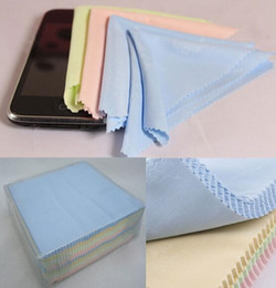 Wholesale Cellphone Glasses - Cheap Price Mix Colors Microfiber Cleaning Cloth For Glasses Camera Lens LCD Screen Cellphone 100pcs lot