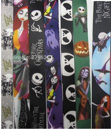 Wholesale Christmas Lanyards Free Shipping - Wholesale-New 50 Pcs Mixed The Nightmare Before Christmas Cello Phone Lanyards Neck Strap Keys Camera ID Card Lanyard Free Shipping LM032