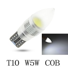 Wholesale X Lens Led - Free Shipping 10 X Auto Car cob Light Bulb T10 LED W5W 12V aluminum parts White Interior Parking Projector Lens