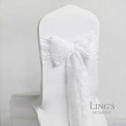 Wholesale Ivory Lace Chair Sashes - Stunning Lace Chair Sashes White,Ivory Chair Covers Lace Wedding Suppliers Accessories 2017 New Arrival Garden Style