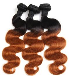 Ombre Brasilianische Haarkörperwelle Bundles 1b 30 Two Tone Menschenhaar-webart Bundles Nicht Remy Haar Können Kaufen 3 oder 4 Pcs von Fabrikanten