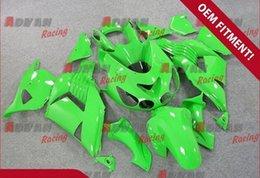 Wholesale Zx14r Custom Paint - Injection molding fairings custom painted green Kawasaki Ninja ZX14R 2006-2011 22