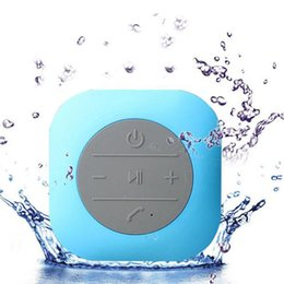 Wholesale Mini Cube Speaker Bluetooth - CBP Waterproof Speakers New Style Cube Sucker Hands Free Wireless Bluetooth Bathroom Speaker 5 Colors Available DHL Free MIS118
