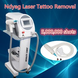 Wholesale Professional Shoot - q-switch nd yag laser tattoo removal machine Professional tattoo removal laser machine with 5,000,000 Shoots