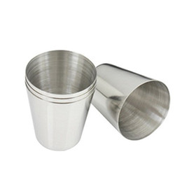 Wholesale Stainless Steel Shot Glass - Wholesale-NFLC 1 oz 35ml Stainless Steel Wine Drinking Shot Glasses Barware Cup