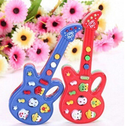 Wholesale Playing Guitar Kids - kids toy electrical guitars baby toys mini baby musical educational guitar toys learning education free shipping