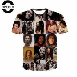 Wholesale Wholesale Bob Marley T Shirts - Wholesale-OPCOLV Summer Style Men Women 3d Print Bob Marley Skull Gun City t Shirt Funny Graphics tshirts Fashion Harajuku T-shirt
