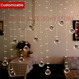 curtain toppers Promo Codes - Free shipping 10 strands lot, Crystal Beads Strand Curtain for home entranceway partition indoor decoration and room divider wedding centerp