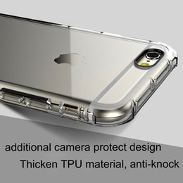 Wholesale Back Cushions Wholesale - Heavy Duty Anti-Knock Air Cushion Clear Transparent Thick SOFT TPU case for iphone 6 6S plus 7 7plus Camera Protect Design back cover