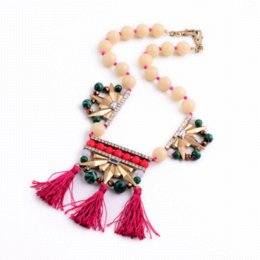 Wholesale Women Designers Bead Necklace - Boho Accessories Fashion Necklaces for Women 2015 Brand Designer Bead Chain Tassel Pendant Necklace fashion network